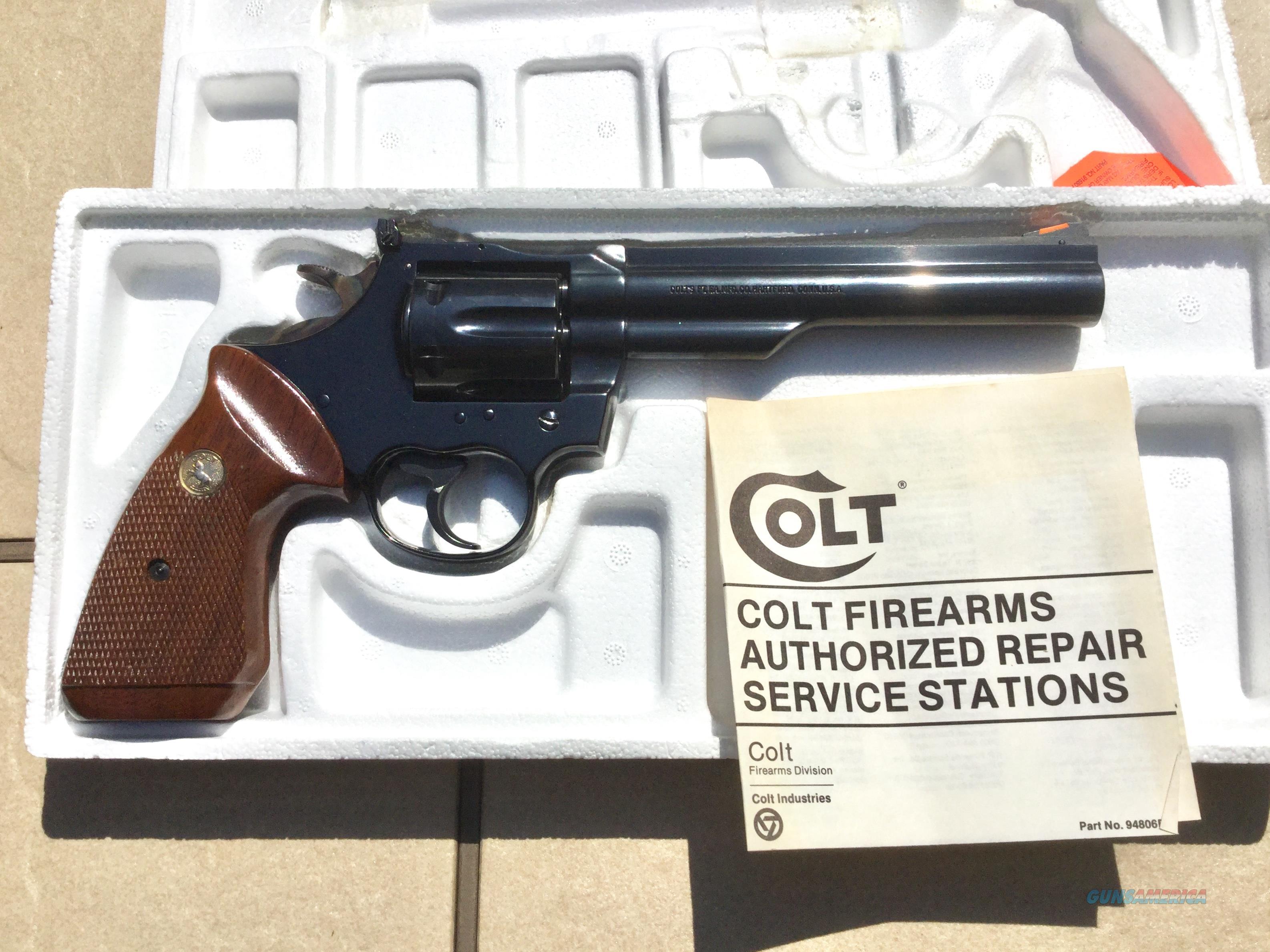 "COLT - MODEL TROOPER MK III - .22 LONG RIFLE - 6"" BARREL  Guns > Pistols > Colt Double Action Revolvers- Modern"