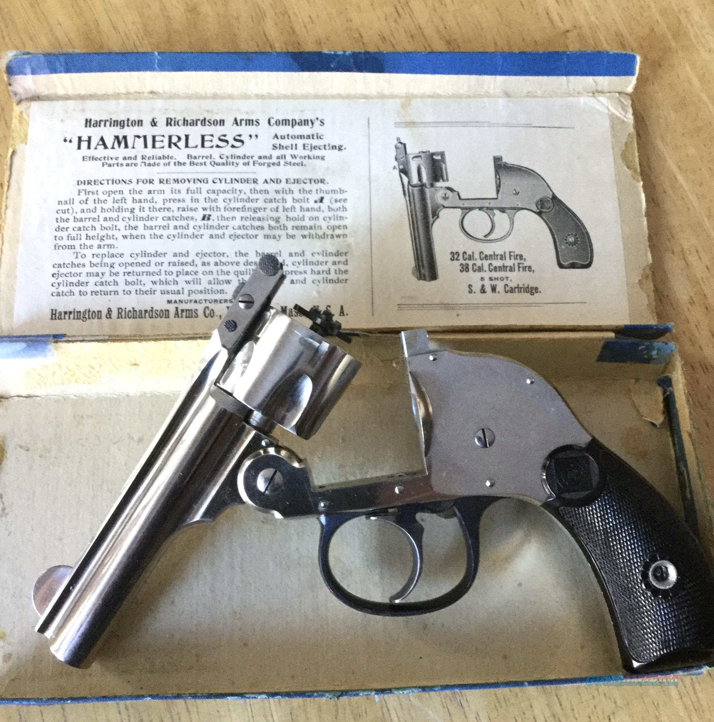 HARRINGTON & RICHARDSON HAMMERLESS 32 S&W   Guns > Pistols > Harrington & Richardson Pistols