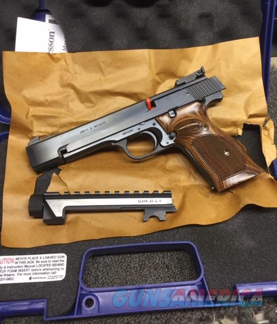"""S&W MODEL 41 5 1/2"""" W/CLARK CUSTOM STC THREADED BARREL   Guns > Pistols > Smith & Wesson Pistols - Autos > .22 Autos"""
