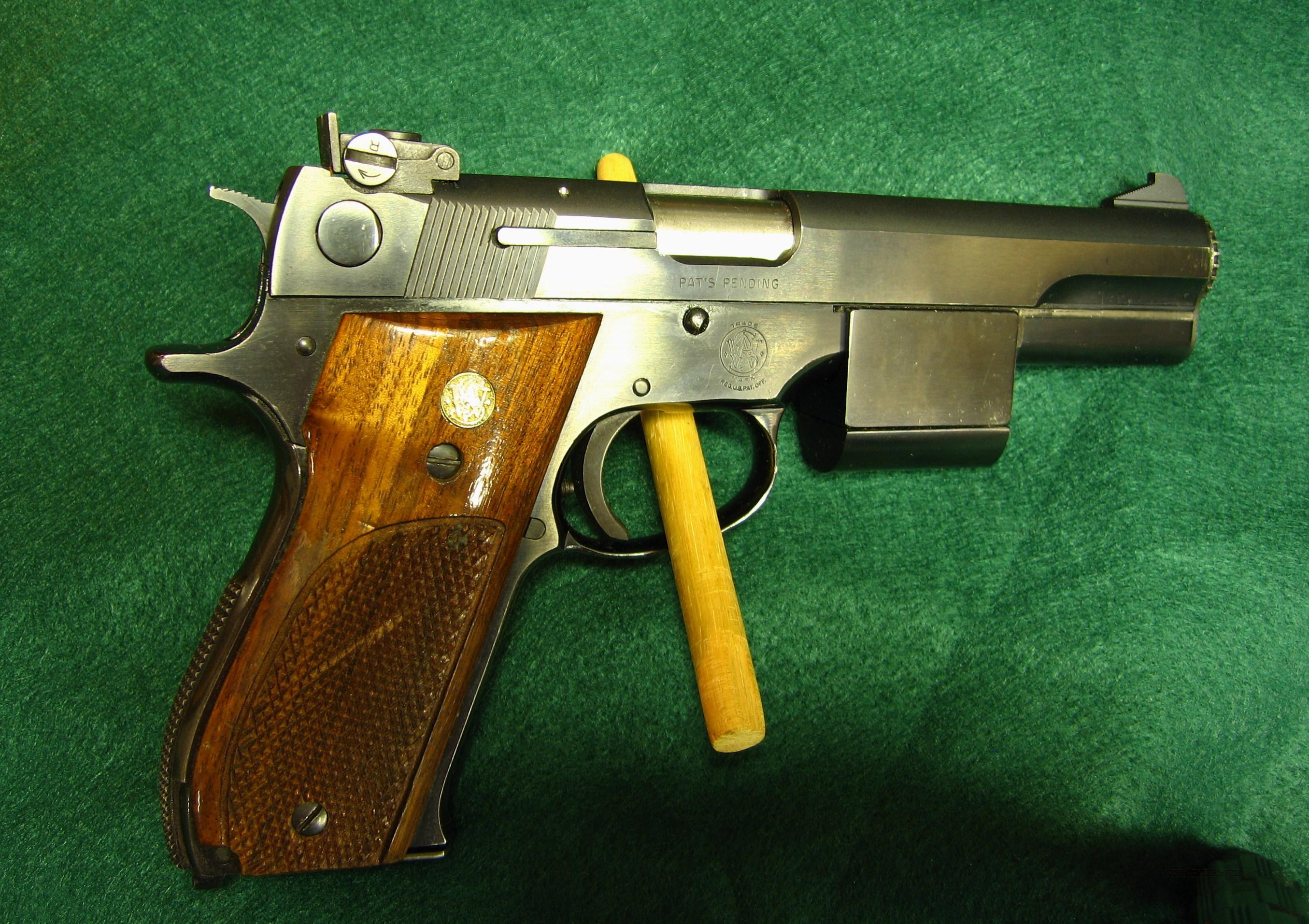 SMITH & WESSON MODEL 52-2 .38 SPECIAL WADCUTTER  Guns > Pistols > Smith & Wesson Pistols - Autos > Steel Frame