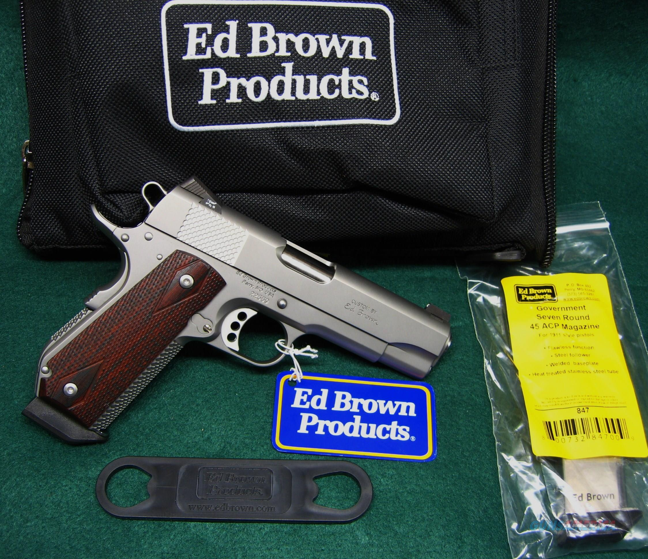 "ED BROWN - KOBRA CARRY - 45 ACP - 4.25"" BARREL -MODEL KC-SS WITH OPTIONAL NIGHT SIGHTS  Guns > Pistols > Ed Brown Pistols"
