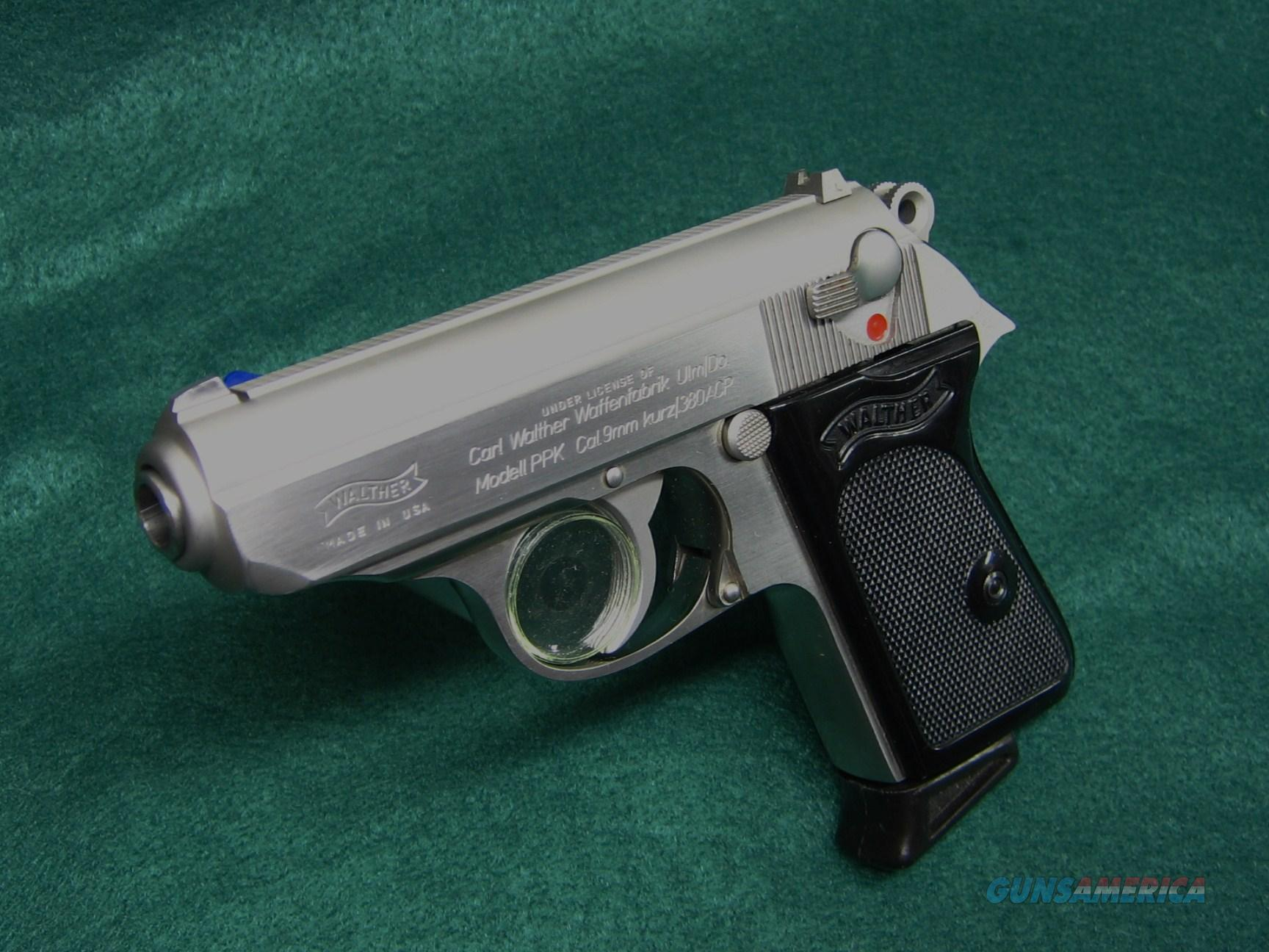 WALTHER MODELL PPK CAL 9mm kurz/.380 ACP W/2 MAGS  Guns > Pistols > Interarms Pistols