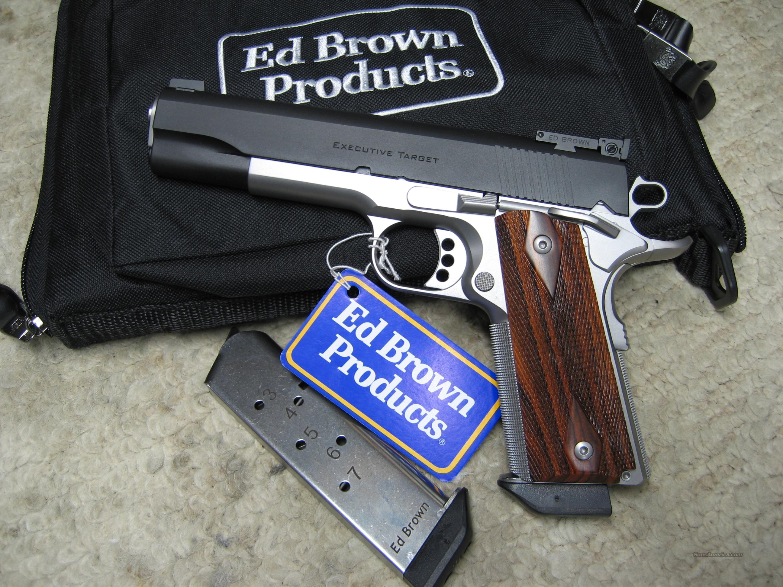 ED BROWN EXECUTIVE TARGET - OPTIONS - 3.5 LB TRIGGER - TWO TONE - EXTRA MAG  Guns > Pistols > Ed Brown Pistols