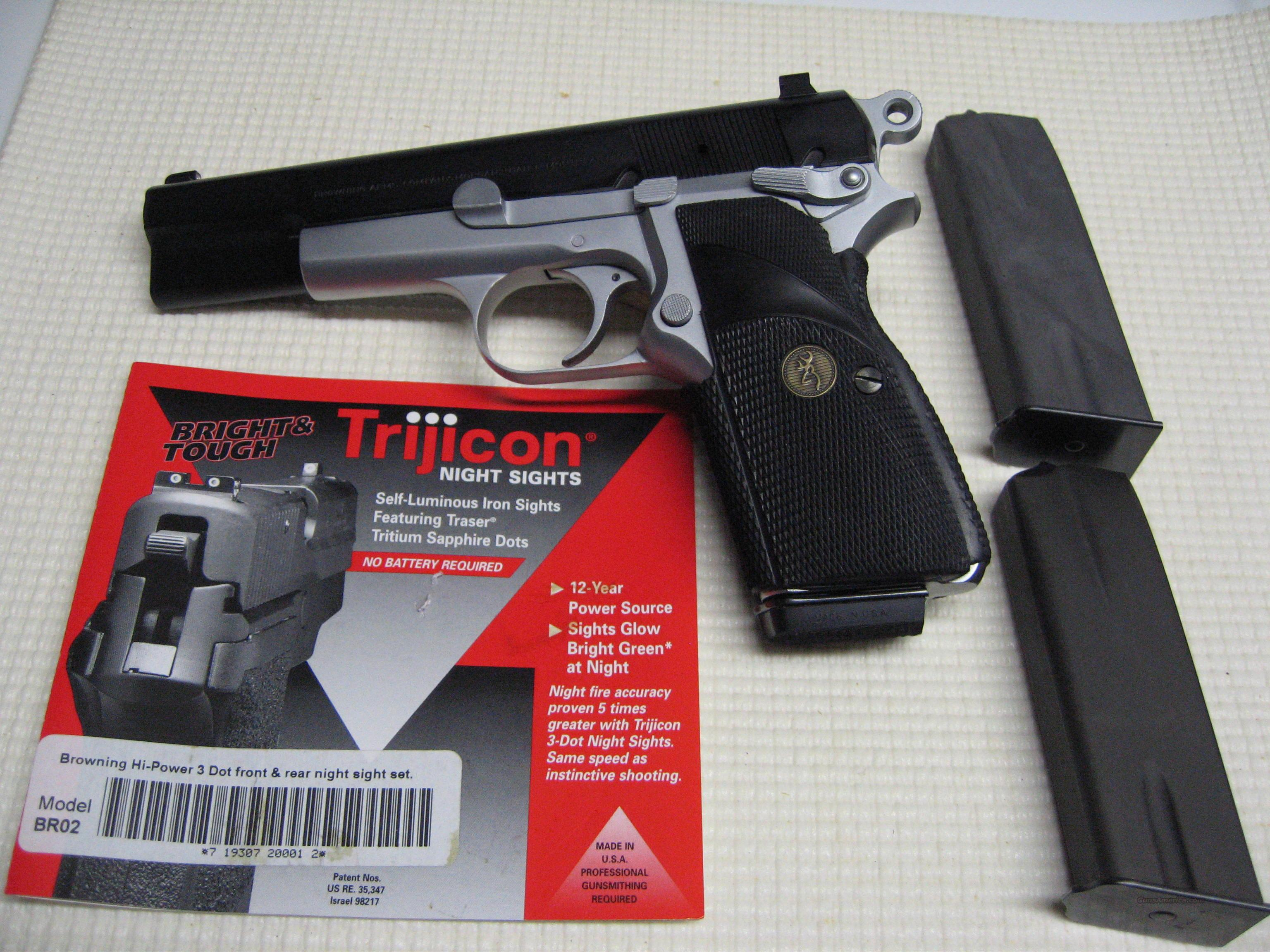 Browning Hi-Power Practical 9mm w/Trijicon Night Sights  Guns > Pistols > Browning Pistols > Hi Power