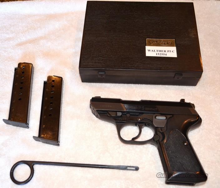Walther P5 Compact, 9mm, 2 Mags, Immaculate Condition  Guns > Pistols > Walther Pistols > Post WWII > Target Pistols