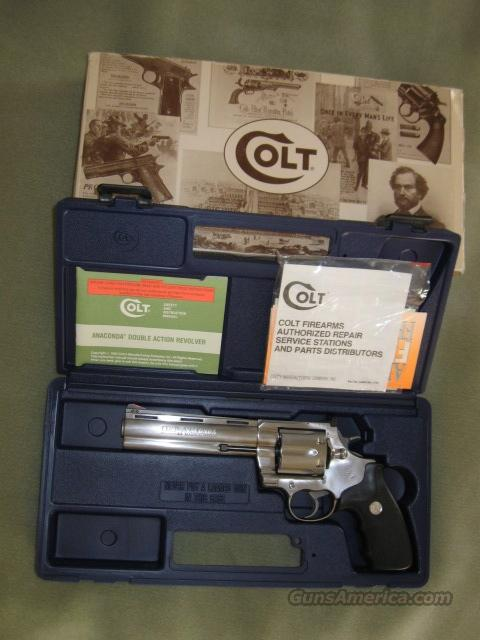 Colt Anaconda 44 Mag 6 inch Barrel in Box  Guns > Pistols > Colt Double Action Revolvers- Modern