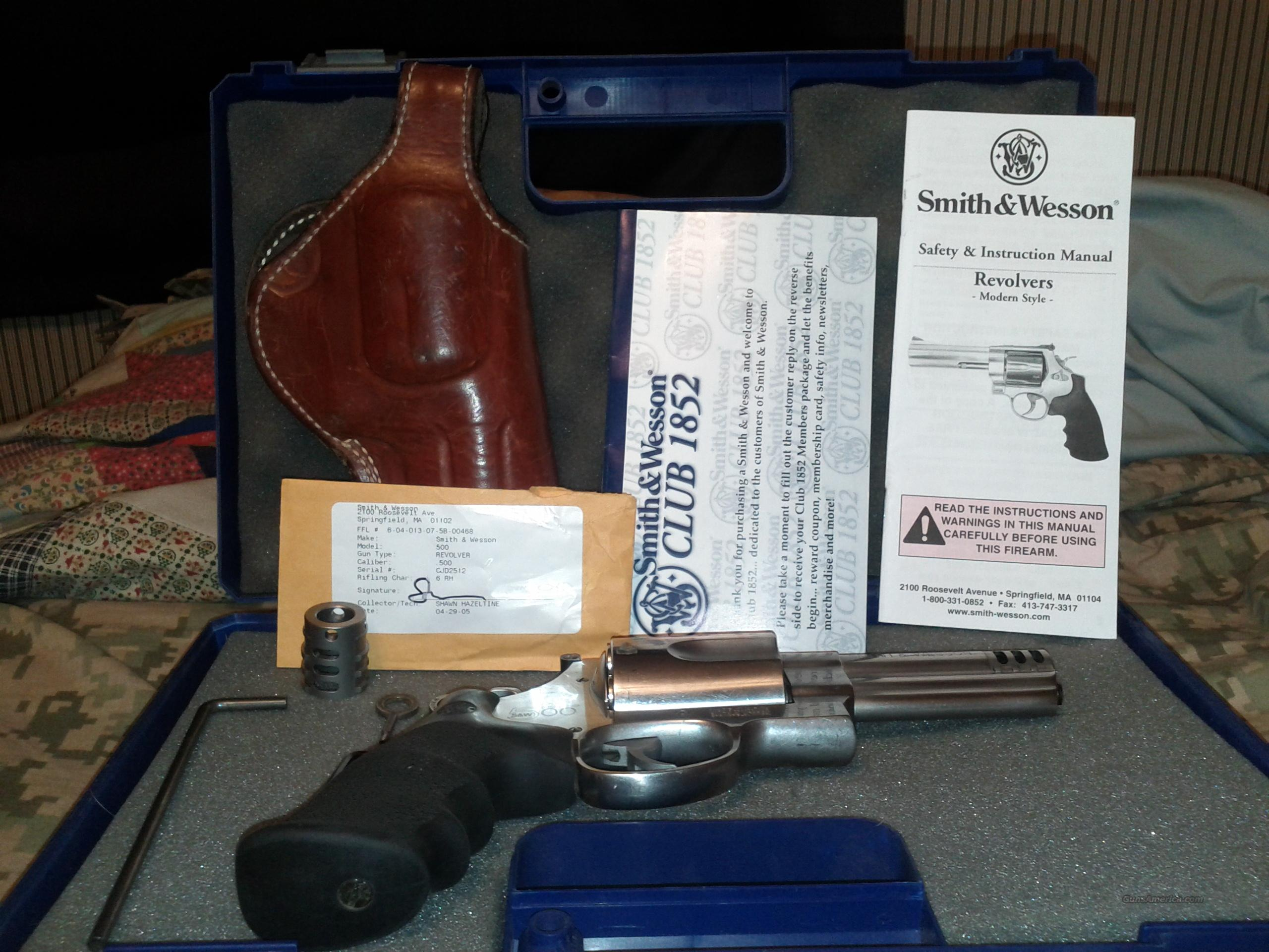 Smith & Wesson  500 magnum  Guns > Pistols > Smith & Wesson Revolvers > Full Frame Revolver