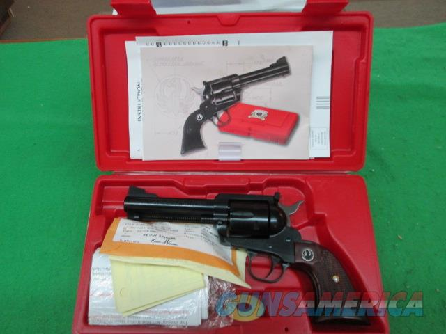 RUGER 50TH YEAR BLACKHAWK 357 SINGLE ACTION BLUED   Guns > Pistols > Ruger Single Action Revolvers > Blackhawk Type