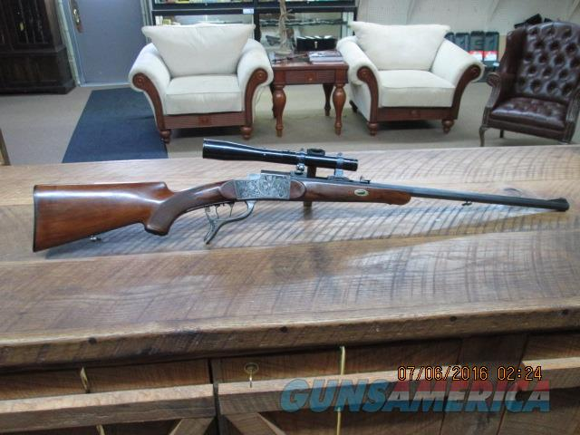 GERMAN PRE-WAR (CIRCA 1936) BURGSMULLER SINGLE SHOT FALLING BLOCK STALKING RIFLE 8.15X46R(30-30WIN.POWER) ALL ORIGINAL CONDITION.  Guns > Rifles > Schuetzen Rifles