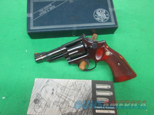 "SMITH & WESSON MODLE 19-3 4"" BARREL BLUED TARGET STOCKS  Guns > Pistols > Smith & Wesson Revolvers > Full Frame Revolver"