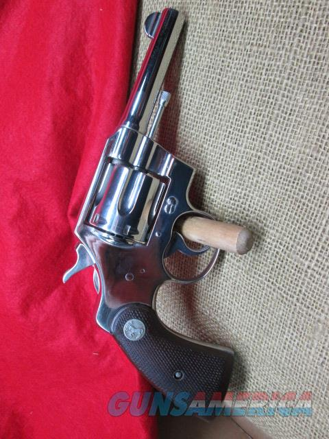 COLT OFFICAL POLICE 38 SPECIAL  4 INCH BARREL 1940'S   Guns > Pistols > Colt Double Action Revolvers- Modern