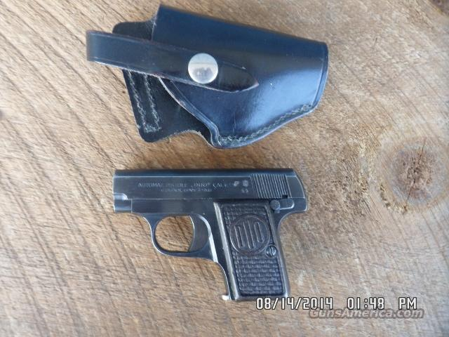 "CZECH WWII "" DUO "" MODEL 6.35 ""25ACP "" CAL.,DATED 1944,CZECH PROOFED,96% ORIGINAL CONDITION.WITH HOLSTER.  Guns > Pistols > CZ Pistols"
