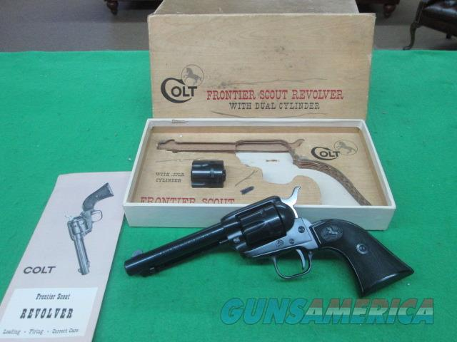 COLT FRONTIER SCOUT .22/.22MAGNUM FACTORY BOX COLLECTOR QUALITY   Guns > Pistols > Colt Single Action Revolvers - Modern (22 Cal.)
