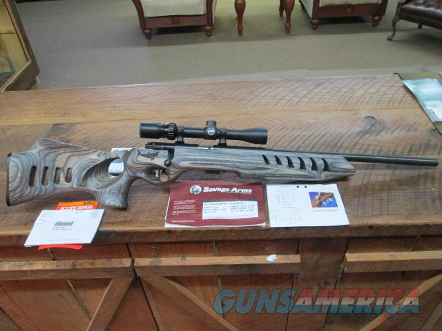 "SAVAGE MKII 21""  .22LR RARE MAKO EDITION GREY LAMINATE WITH SCOPE  Guns > Rifles > Savage Rifles > Rimfire"
