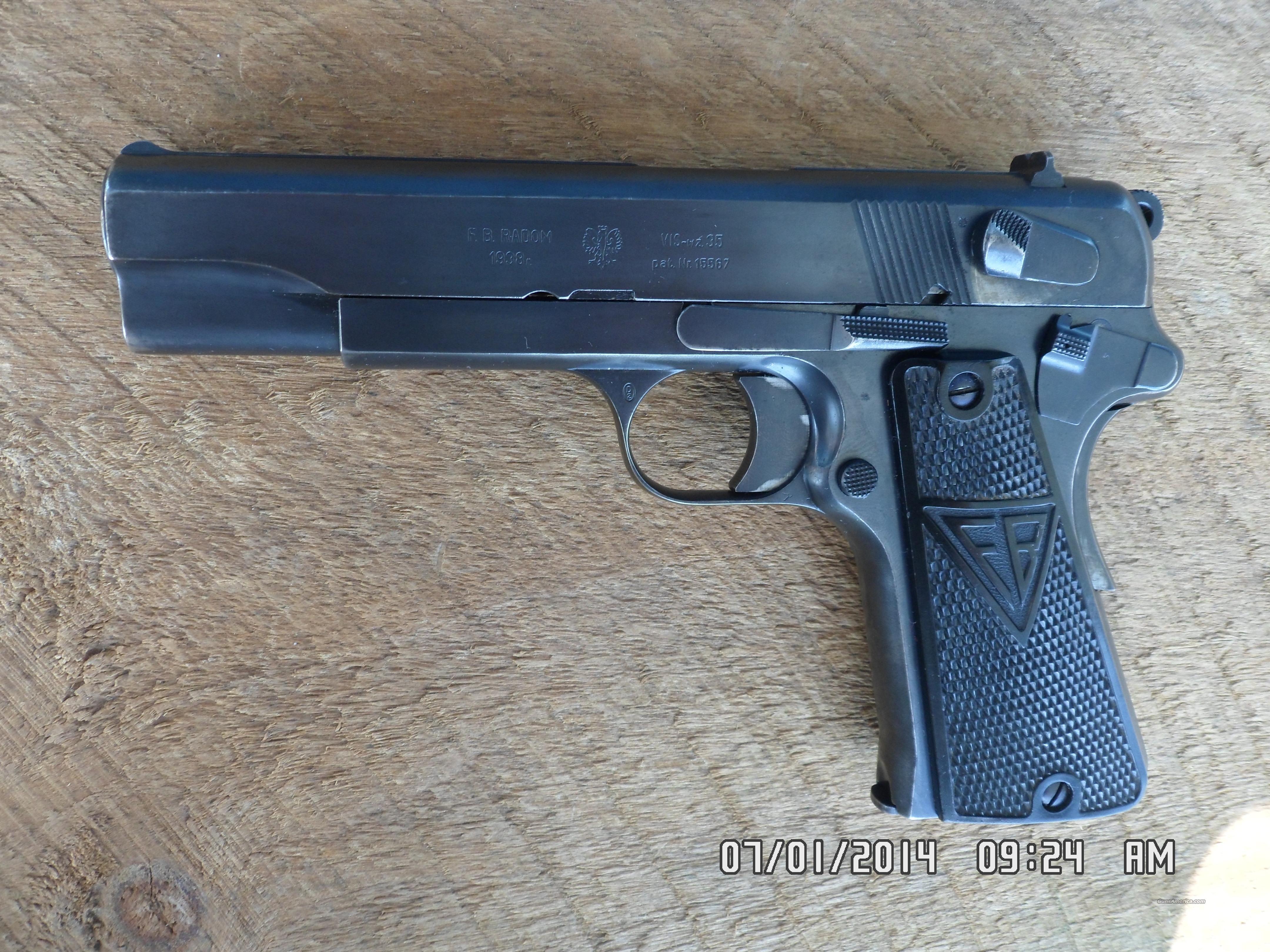 F.B.RADOM 1938 VIS-35 POLISH EAGLE PISTOL 9MM 9... for sale