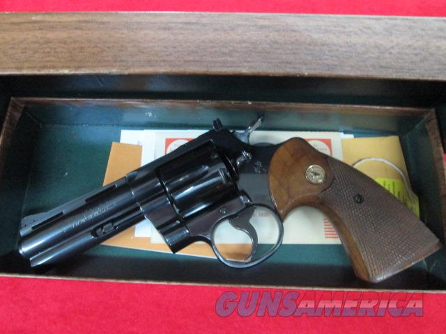 "COLT PYTHON  4"" blue circa 1968 alll original with box   Guns > Pistols > Colt Double Action Revolvers- Modern"