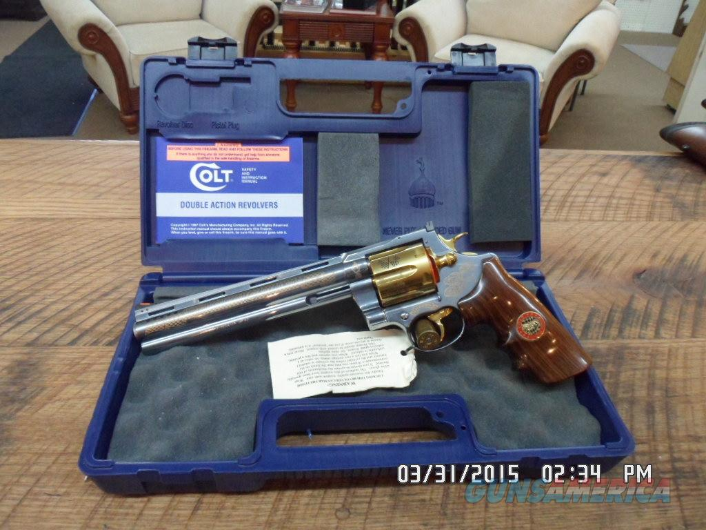 COLT ANACONDA HALL OF FAME NASCAR SPECIAL EDITION 44 MAGNUM 100 % NEW IN BOX.  Guns > Pistols > Colt Double Action Revolvers- Modern