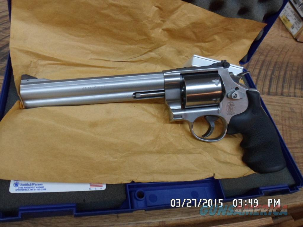 SMITH & WESSON 657-5 41 MAGNUM STAINLESS HUNTER ,AS NEW IN BOX.  Guns > Pistols > Smith & Wesson Revolvers > Full Frame Revolver