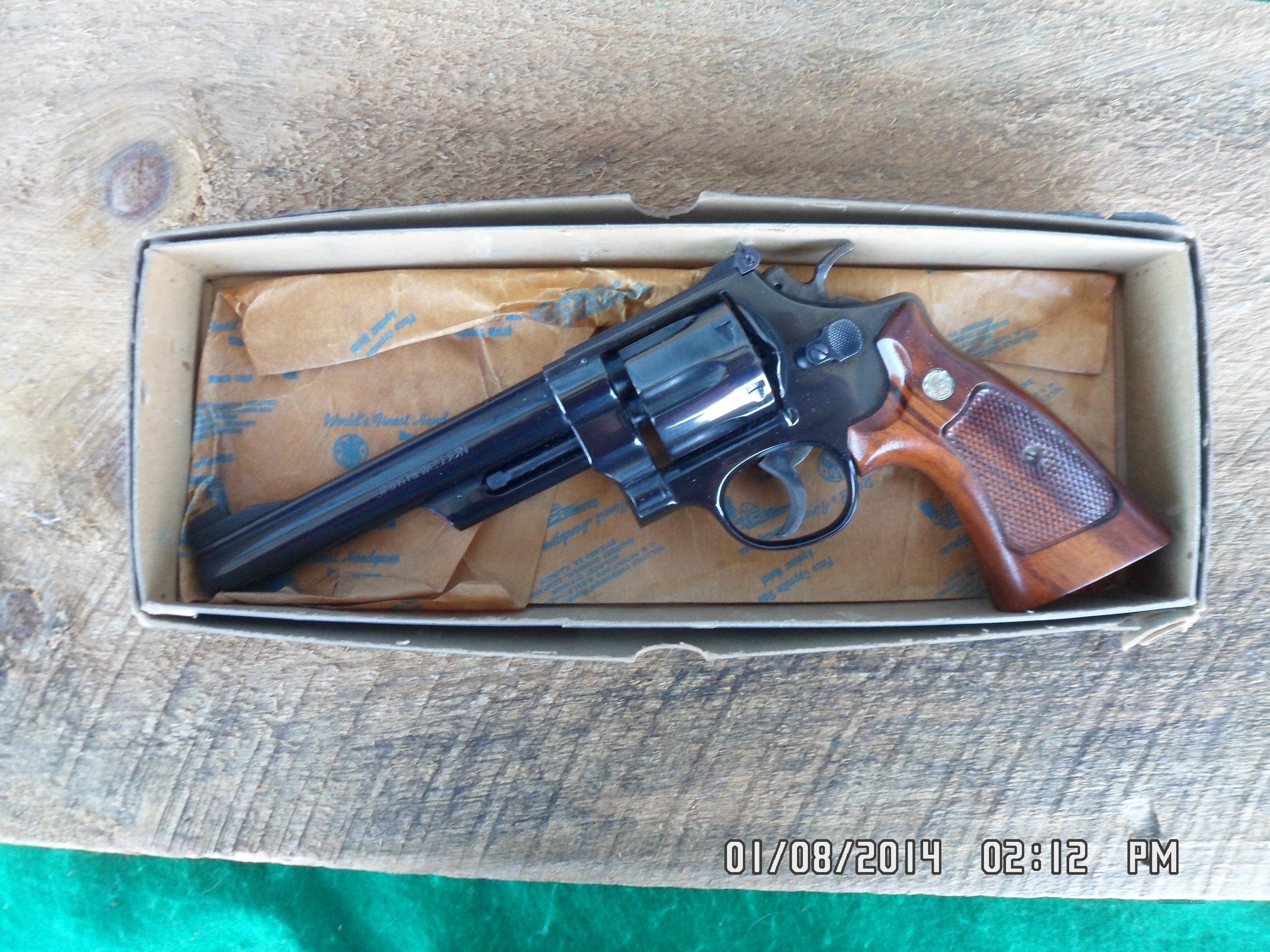 "SMITH & WESSON MODEL 25-2, ""1955 TARGET MODEL"" 45 ACP NEW IN ORIGINAL BOX MADE 1979, SN N6147XX.  Guns > Pistols > Smith & Wesson Revolvers > Full Frame Revolver"