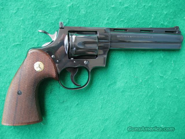 COLT PYTHON 1956 EARLY 2ND YEAR REVOLVER 357 MAG.90%PLUS  Guns > Pistols > Colt Double Action Revolvers- Modern