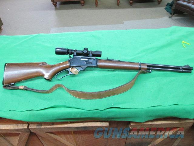 MARLIN 336 30-30 JM STAMPED WITH LEATHER SLING BURRIS SCOPE.  Guns > Rifles > Marlin Rifles > Modern > Lever Action
