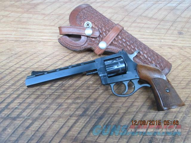 H & R MODEL 939 22L.R. CAL. 9 SHOT REVOLVER 99% ORIG.CONDITION WITH HAND MADE HOLSTER.  Guns > Pistols > Harrington & Richardson Pistols