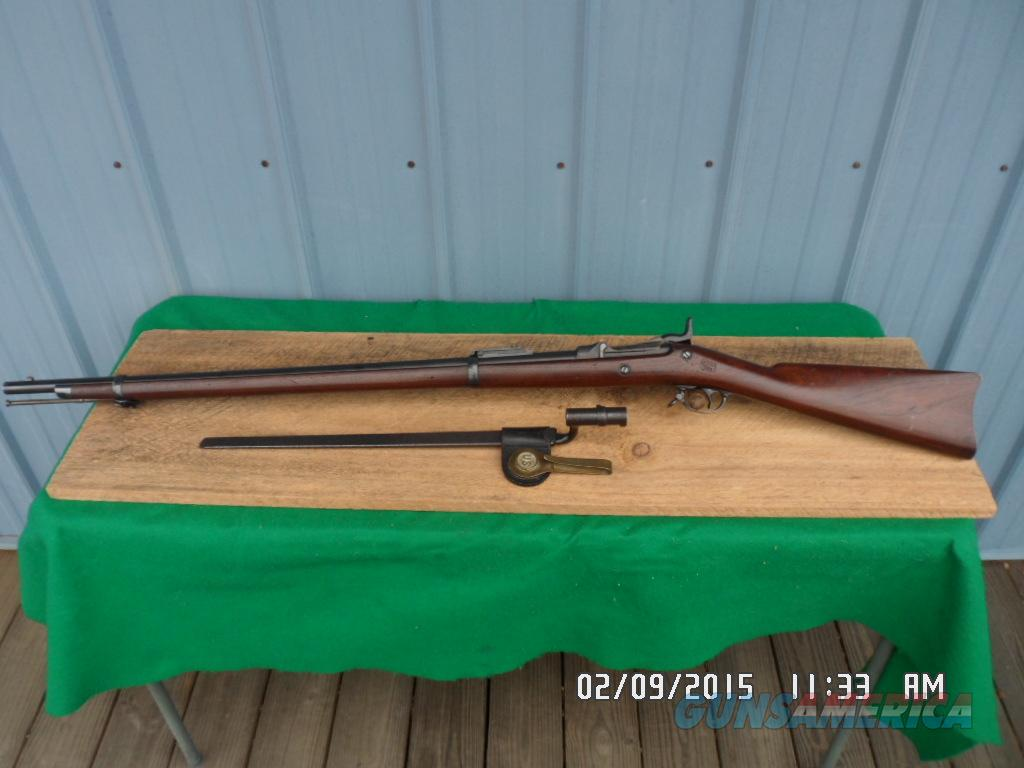 "U.S.SPRINGFIELD MODEL 1884 TRAPDOOR 45-70 GOV'T ""LOOKS UNISSUED"" W/BAYONET,SCABBARD AND FROG. ALL 95% PLUS ORIG.COND.  Guns > Rifles > Military Misc. Rifles US > Pre-1900"
