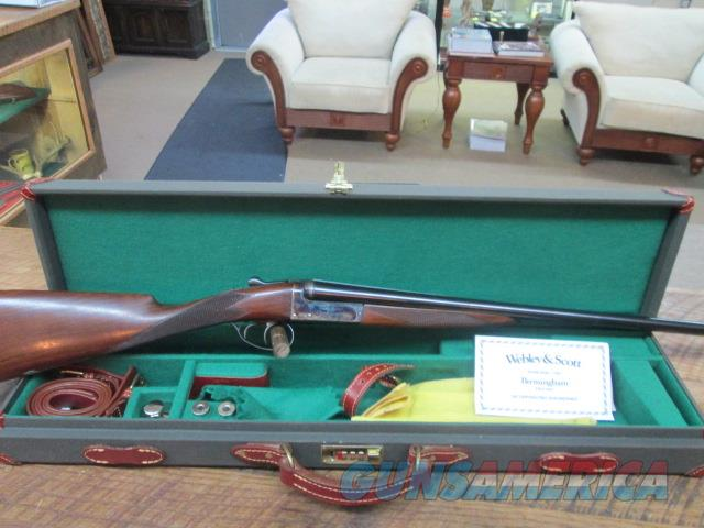 WEBLEY & SCOTT 20 GAUGE 99% PLUS WITH LEATHER CASE  Guns > Shotguns > W.C. Scott Shotguns