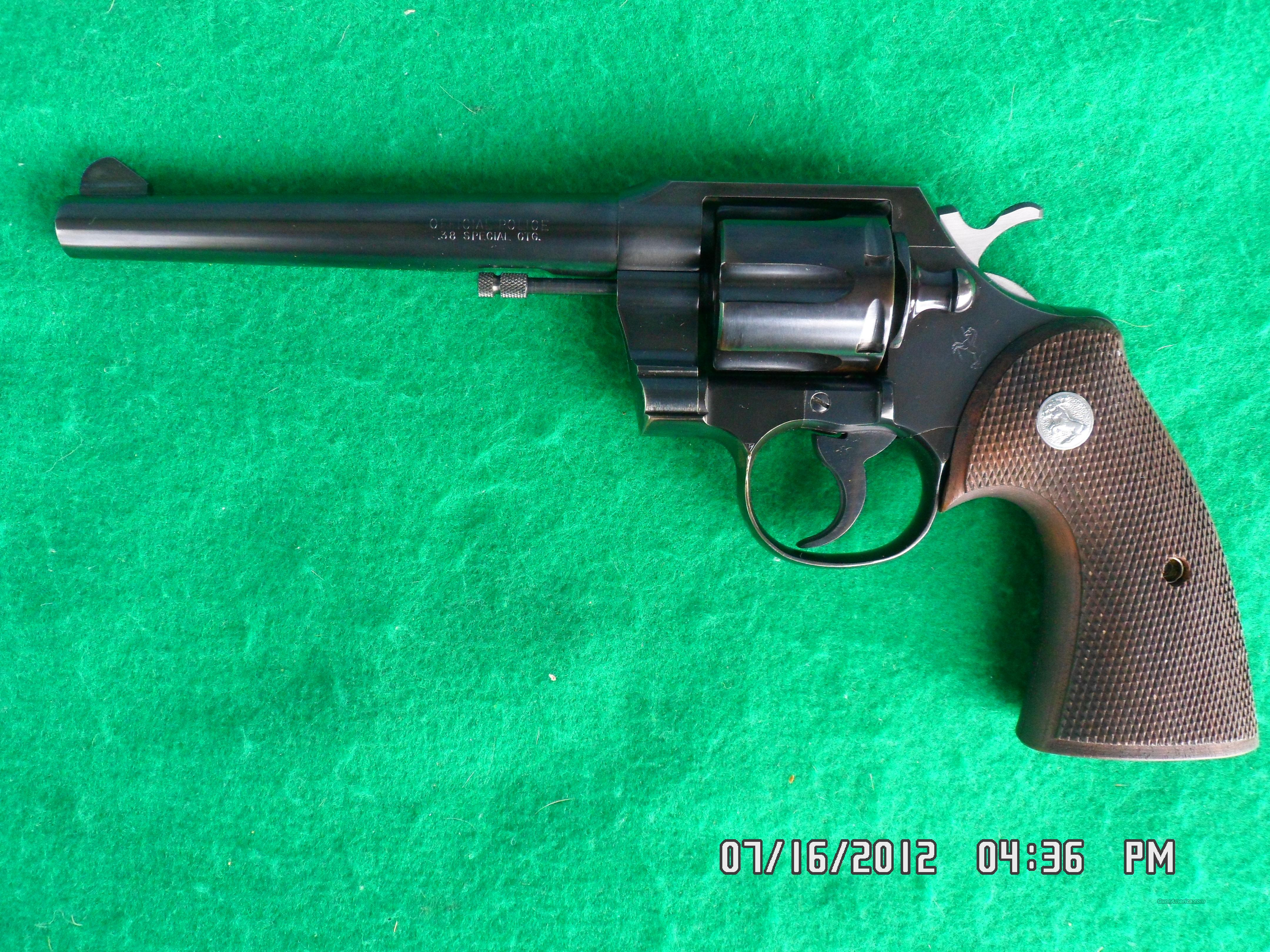 COLT OFFICIAL POLICE POST WAR 6 SHOT REVOLVER 38 SPECIAL 1965 99%  Guns > Pistols > Colt Double Action Revolvers- Modern