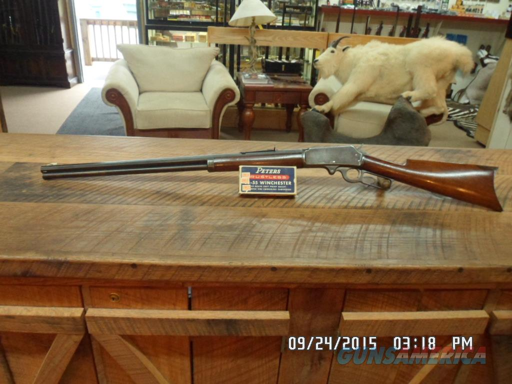 MARLIN MODEL 1893 (MFG 1903, 112 YEARS OLD) 38-55 WIN.CAL. ALL ORIGINAL RIFLE WITH 1 BOX AMMO.  Guns > Rifles > Marlin Rifles > Modern > Lever Action