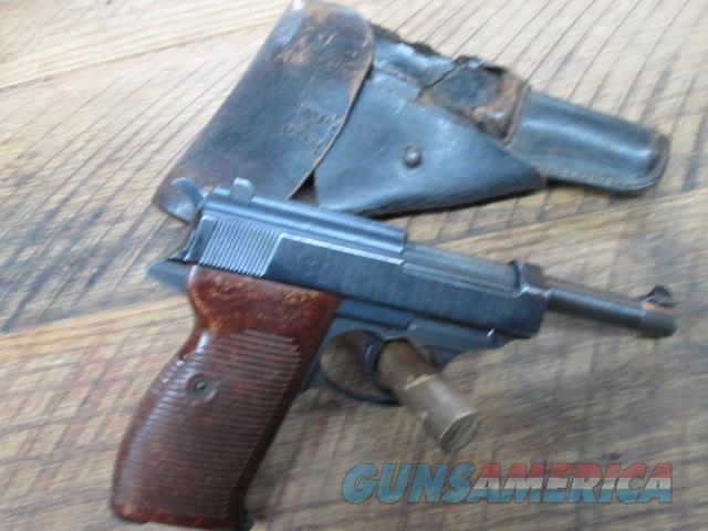SPREE WERKE P-38 NAZI MARKED ALL ORIGINAL SEMI AUTO WWII WITH MATCHING HOLSTER  Guns > Pistols > Military Misc. Pistols Non-US
