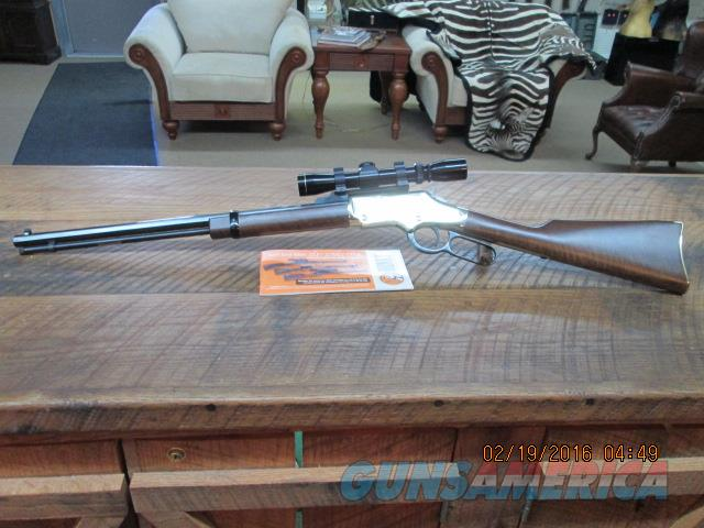 HENRY GOLDEN BOY 22 WIN.MAGNUM LEVER RIFLE W / LEUPOLD 2X7X28MM ALL AS NEW CONDITION.  Guns > Rifles > Henry Rifle Company