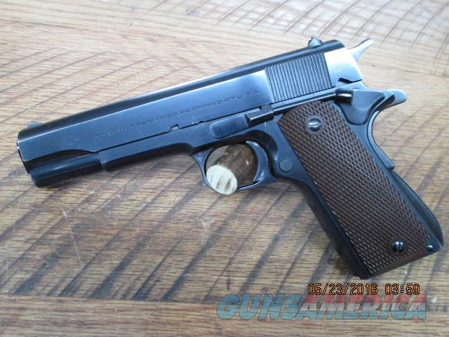 COLT 1911A1 COMMERICAL (MFG 1947 C-2241XX) GOV'T MODEL 45ACP PISTOL 98% PLUS ALL ORIGINAL AND MATCHING.  Guns > Pistols > Colt Automatic Pistols (1911 & Var)
