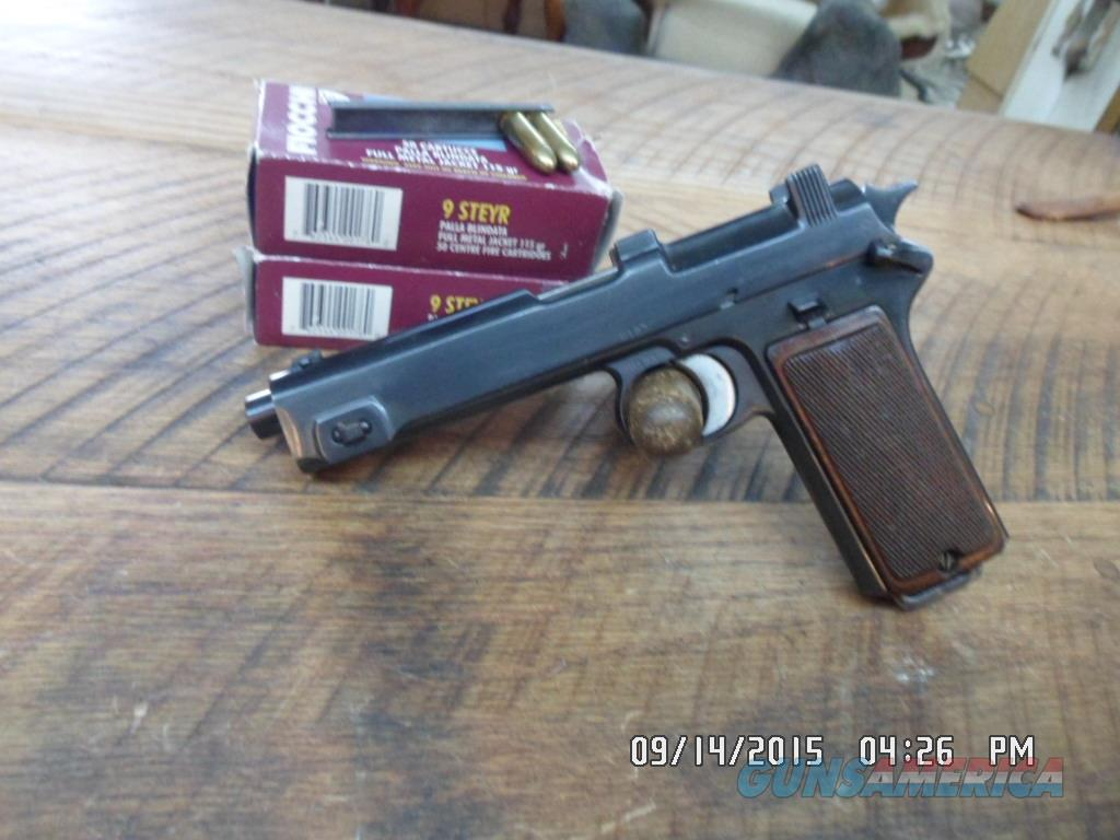 STEYR-HAHN MODEL 1911 AUTOMATIC 9 MM STEYR CAL. 95% CONDITION W/ 102 RDS AMMO.  Guns > Pistols > Steyr Pistols