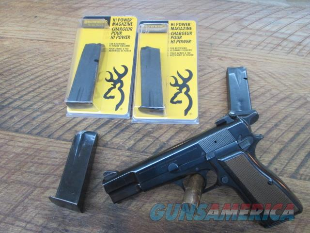 BROWNING HI POWER ALL ORIGINAL 1972 9MM BELGIUM MADE WITH EXTRAS  Guns > Pistols > Browning Pistols > Hi Power