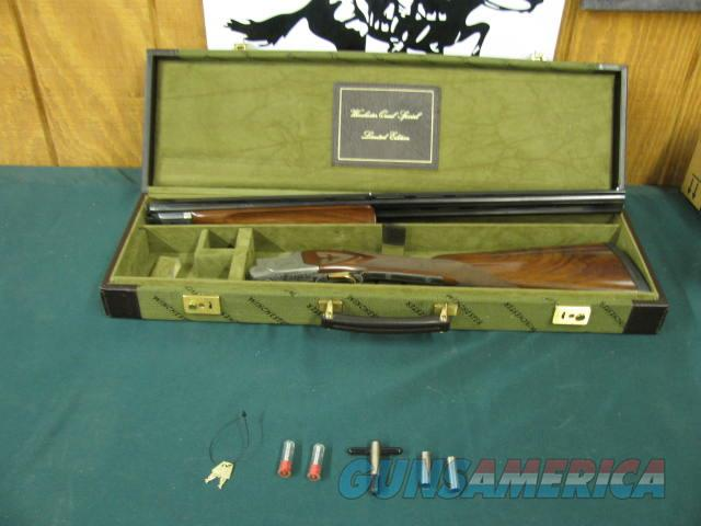 6188 Winchester 101 Quail Special 410 gauge, 2 Briley chokes skeet/cyl,wrench, keys, correct winchester case, quail and dogs engraved on coins silver receiver, AA++Fancy Walnut in stock and forend. 99% condition, only 500 mfg and this is #  Guns > Shotguns > Winchester Shotguns - Modern > O/U > Hunting