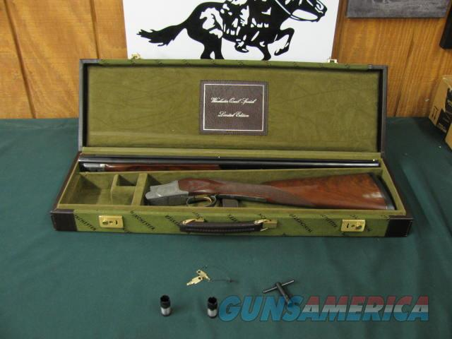 6543 Winchester 101 Quail Special 28 gauge, 26 inch barrels,4 chokes sk ic m f,wrench, keys, STRAIGHT GRIP, Winchester butt pad, all original, Winchester Quail Special case, vent rib ejectors,quail/dogs engraved coin silver receiver, AA++Fa  Guns > Shotguns > Winchester Shotguns - Modern > O/U > Hunting