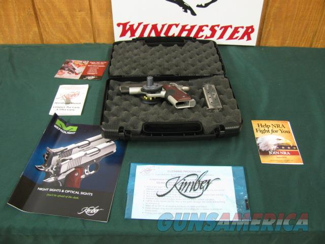 6034 Kimber Pro Carry II Crimson Trace lazer 45 acp 99% caseed papers AS NEW  Guns > Pistols > Kimber of America Pistols