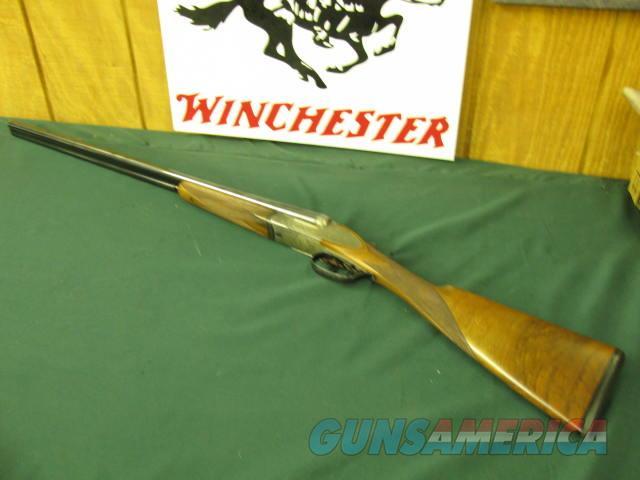 6525 V. Bernadelli Roma 6E 28 gauge 27 inch barrels, ic/mod, STRAIGHT GRIP, butt pad, solid rib, side plate, double trigger ejectors, splinter forend lop 14 1/2  99% condition, open closes tite, bores brite/shiny, A Straight grain walnut. r  Guns > Shotguns > B Misc Shotguns