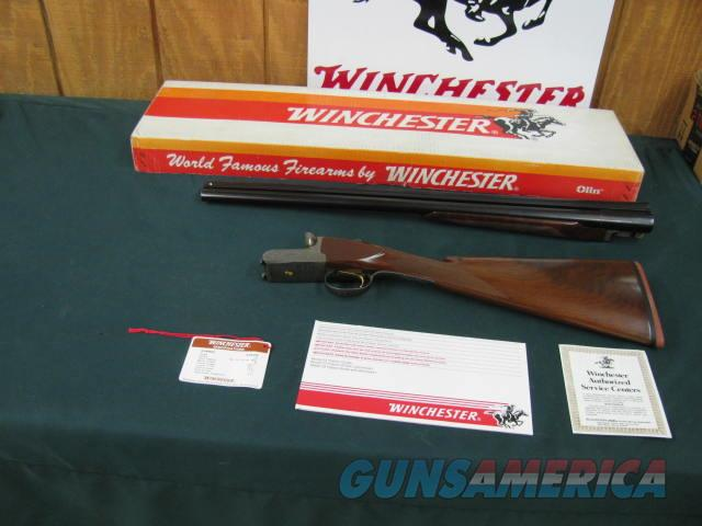 6235 Winchester 23 GOLDEN QUAIL 12 gauge 26 barrels,ic/im STRAIGHT GRIP,dogs/pheasants engraved on coin silver receiver. AA+Fancy FEATHERCROTCH STOCK/FOREnd, solid rib ejectors, single select trigger Winchester butt pad, hang tag/papers, co  Guns > Shotguns > Winchester Shotguns - Modern > SxS