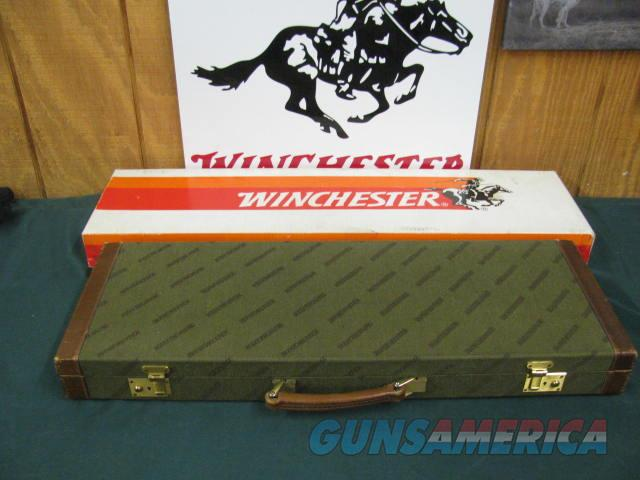 6801 Winchester 23 Classic 20 gauge 26 inch barrels ic/mod,vent rib, single select trigger, ejectors, pistol grip with cap, Winchester butt pad, all original, AAA Fancy marble cake highly figured walnut, correct Winchester box serialized to  Guns > Shotguns > Winchester Shotguns - Modern > SxS