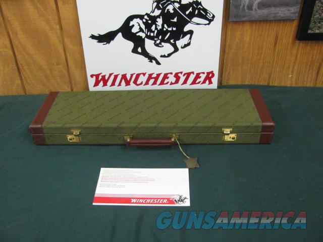 6858 Winchester 23 Pigeon XTR 20 gauge 28 inch barrels mod/full, beavertail, vent rib round knob ejectors, coins silver rose and scroll engraved receiver,Winchester pad, Winchester case Winchester Pamphlet. 99% condition, as new, from west   Guns > Shotguns > Winchester Shotguns - Modern > SxS