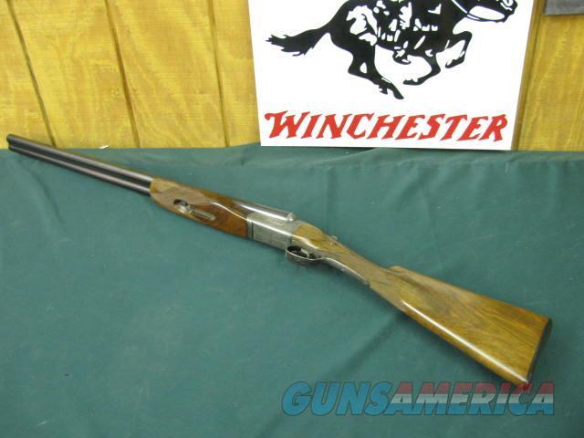 3224 Westley Richards CENTENARY 12ga 28bls ic/f ejectors, single select trigger,STRAIGHT GRIP,butt plate,Westley Richards London on raise solid tapered rib also CENTENARY ON RIB,beavertail with inlaid forend iron,AA+Walnut.droplock plate ha  Guns > Shotguns > Westley Richards Shotguns
