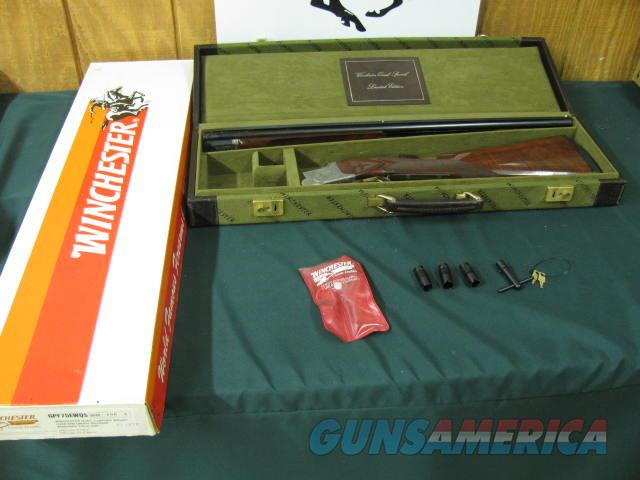 6538 Winchester 101 Quail Special 28 gauge 25 inch barrels 2 3/4 & 3 inch chambers,---BABY FRAME-- 5 winchokes 2sk,ic m f,wrench,keys pouch  STRAIGHT GRIP,Winchester butt pad, ALL ORIGINAL, correct Winchester Case and matching Winchester bo  Guns > Shotguns > Winchester Shotguns - Modern > O/U > Hunting
