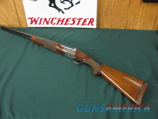 6348 Winchester 23 Pigeon XTR 12 gauge 26 inch barrels ic/mod,beavertail, single select trigger, ejectors vent rib, pad, 14 1/4 lop, rose and scroll coin silver engraved receiver, bores brite and shiny. 98% condition.  Guns > Shotguns > Winchester Shotguns - Modern > SxS