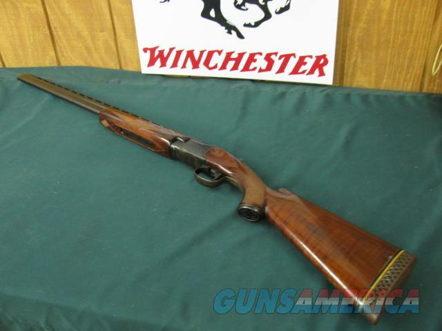 6267 Winchester 101 Field 410 gauge 28 inch barrels, skeet/skeet, AA+ FANCY TIGER STRIPED WALNUT, vent rib, pistol grip ejectors, White line pad lop 14 1/4, 98% condition or better, opens and closes tite, seldom used, bores brite and shiny.  Guns > Shotguns > Winchester Shotguns - Modern > O/U > Hunting