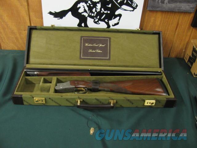 6544 Winchester 101 Quail Special 410 gauge, 26 inch barrels,mod/full, keys, STRAIGHT GRIP, Winchester butt pad, all original, Winchester Quail Special case, vent rib ejectors,quail/dogs engraved coin silver receiver, AA+Fancy Walnut. 99% c  Guns > Shotguns > Winchester Shotguns - Modern > O/U > Hunting