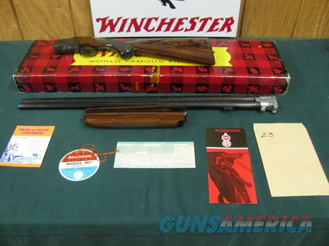 5946 Winchester 101 Field 20ga 28bls m/f NIB NEVER ASSEMLED NEVER SHOT NONE FINER ALL PAPERS HANG TAG ETC.  Guns > Shotguns > Winchester Shotguns - Modern > O/U > Hunting