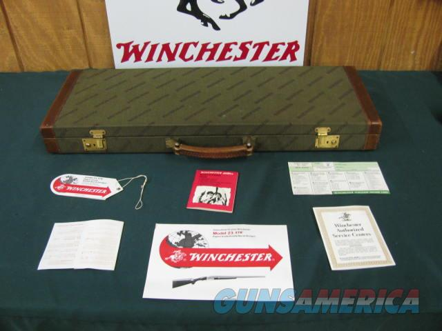 6100 Winchester 23 Pigeon XTR 12 gauge 26 inch barrels,ic/mod,vent rib, ejectors, single select trigger, round knob, Winchester butt plate,98-99% condition, all original, hang tag and papers, correct Winchester case.  Guns > Shotguns > Winchester Shotguns - Modern > SxS