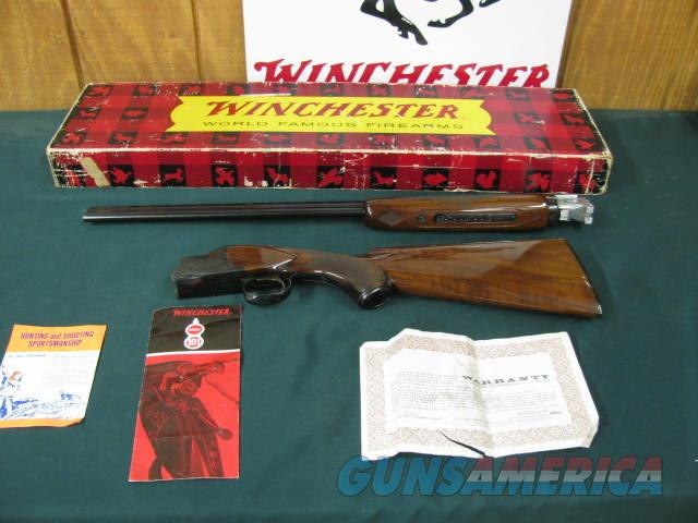 6327 Winchester 101 410 gauge FIELD NEW IN BOX TIME CAPSULE SURVIVOR WITH PAPERS 26BLS IC/MOD, vent rib pistol grip with cap,ejectors, papers and correct Winchester box serialized to it.Winchester butt plate, ALL ORIGINAL UNFIRED TIME CAPSU  Guns > Shotguns > Winchester Shotguns - Modern > O/U > Hunting